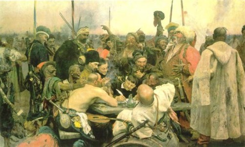 Repin's Cossack painting