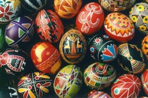 Pysanka- decorated easter eggs