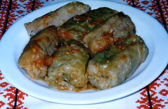 Holubtsi- proccesed meat & rice wraped in a cabbage leaves