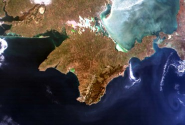 Image of Crimea from space