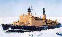 Nuclear ice breaker ship